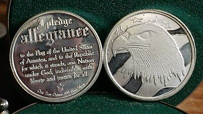1 Troy oz Rounds I Pledge Allegiance !! GREAT FOR THE YOUNG ONES TO START !!