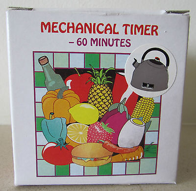 Kettle shaped 60 minute mechanical kitchen timer.  Brand New