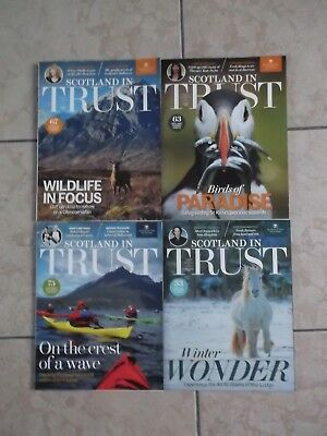 Joblot 4 Scotland in Trust Magazines 2015 and 2016 National Trust for Scotland