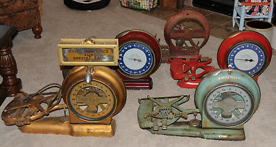 5 Each ANGLDILE Springless Computing Scales Antique Scale ELKHART INDIANA 1900'S