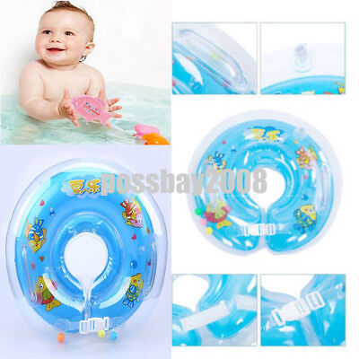US Baby Infant Swimming Pool Inflatable Float Neck Ring Safety Aids Bath Swim