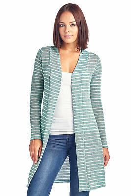 38fd4c7c7e0 WOMEN'S CARDIGAN LONG Open Front (Small to 3XL Plus Sizes) Made in ...