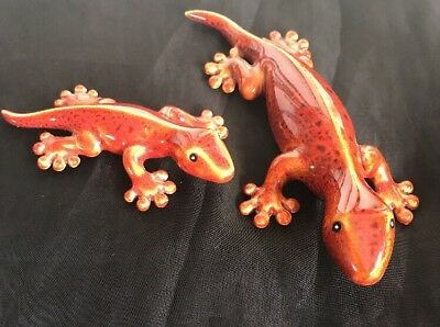 NEW W/OUT box, Partylite Tropical Gecko Wall Runner with Baby P90061 ADORABLE