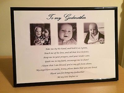 Personalised Godparents Gift Godmother Godfather Thank you Gift