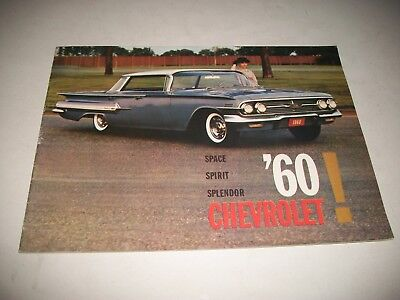 1960 Chevrolet Car Sales Brochure  Impala Bel Air Biscayne Canadian 20 Page