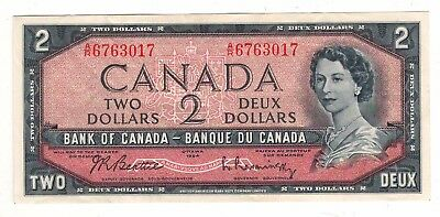 Canada 1954 $2 Bank of Canada Banknote A/R Lot#2