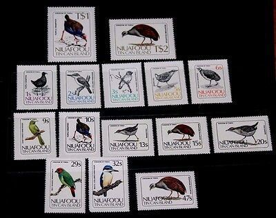 Niuafo Ou 1983 Birds Set Of 15 Fine M/n/h
