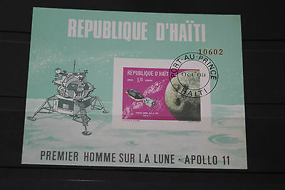 Rep D Haiti 1969 Apollo 11  Imperf Minature Sheet Fine M/n/h