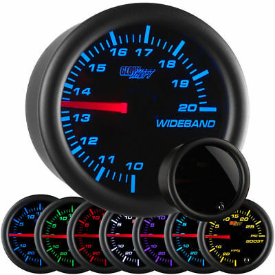 GlowShift Tinted 7 Color Needle Analog Wideband Air/Fuel Ratio Gauge GS-T702-NWB