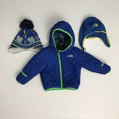 The North Face Kids Jacket And Two Hats Boys Toddler Size 12-18
