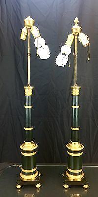 Magnificent Antique Pair of Very Large Austrian Bronze Lamps with  Fine Bronze