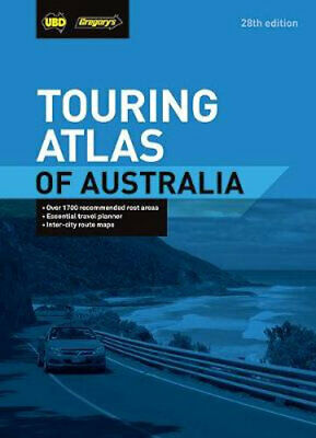 NEW Touring Atlas of Australia By UBD Gregory's Paperback Free Shipping