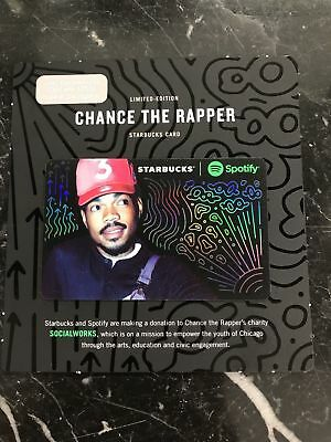 Starbucks 2017  Limited Edition Chance The Rapper Spotify Gift Card