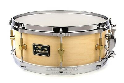 Canopus 'The Maple' Snare Drum 14x5.5 Natural Oil w/ Cast Hoops - Video Demo