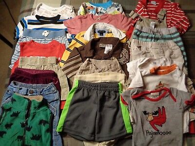 Lot of 21 pieces, boys 9-12 months clothing outfits.