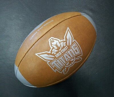 Steeden Gold Coast Titans Laced Leather Team Heritage Rugby League NRL Ball *NEW
