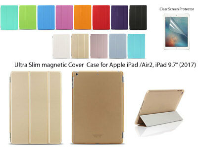 """Tri-fold Magnetic Ultra Slim Smart Cover Case for iPad Air Air2  iPad 9.7""""(2017)"""