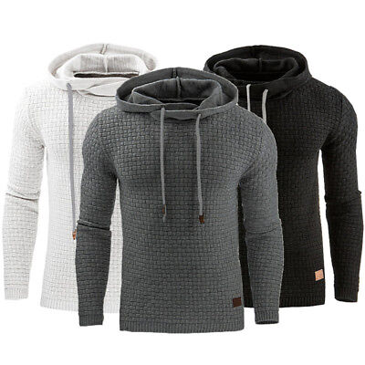 US STOCK Men's Casual Hoodie Sweatshirt Hooded Coat Jacket Sweater Pullover Tops