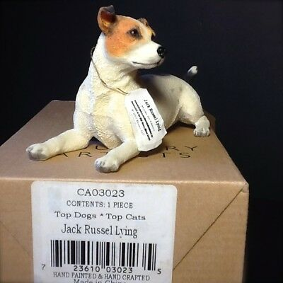 Hand Crafted Jack Russell Dog Figurine Hand Painted 2007