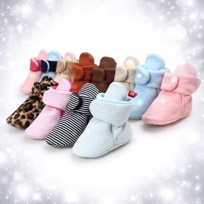 Fashion 0-18M Baby Boys Girls Warm Boots Newborn Toddler Infant Soft Sole Shoes