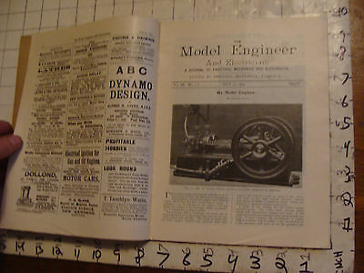 The Model Engineer and Electrician JULY 30, 1903 issue; SCARCE MAGAZINE
