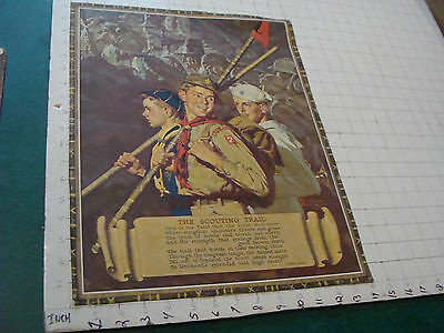 VINTAGE Poster: The Scouting Trail by Norman Rockwell c. B&B, aprox 14 x 18""