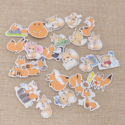 Cute Fox Emotion Animal Stickers Scrapbooking Notebook DIY for Girl Lady Hot