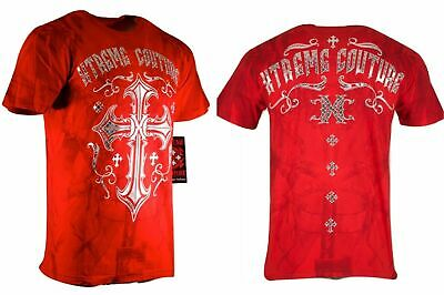Xtreme Couture by AFFLICTION Mens T-Shirt ELEVENTH HOUR Biker Gym MMA S-4XL $40