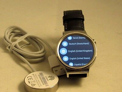 Huawei 55020533 Smart Watch Stainless Steel  Black Leather Strap STOP LISTING