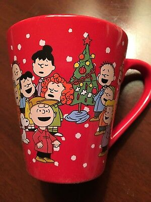 ZAK! Peanuts A Charlie Brown Christmas Ceramic Coffee Mug NEW! (I)