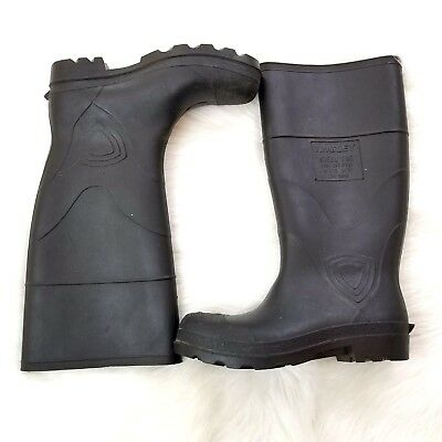 Tingley ANSI Steel Toe Rubber Tall Work Boots Size Mens 6 Womens 8 Black B21