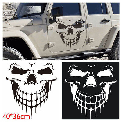 "16"" Reflective Skull Car Auto Hood Decal Vinyl Sticker SUV Truck Tailgate Window"
