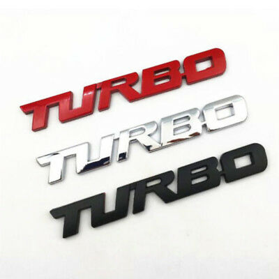 3D turbo Letter Emblem Badge Metal Chrome Sticker For Car Truck Motor Decal 1PC