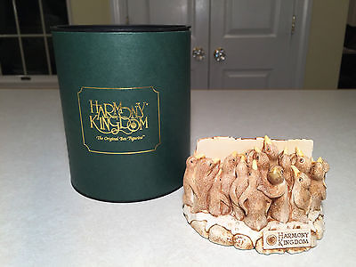 "New w/ Box HARMONY KINGDOM ""Holding Court"" Penguin Figurine LETTER CARD HOLDER"