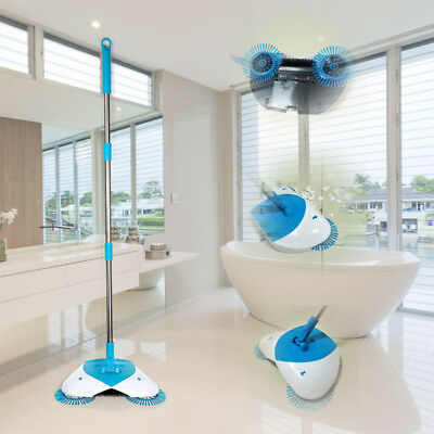 NEW Hand-propelled Cleaning Floor Hurricane Spin Broom home Cleaner sweeper AU