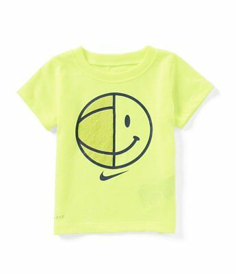 Nike Baby Boys Smiley Basketball Short-Sleeve Tee Size 12 Months Color Volt