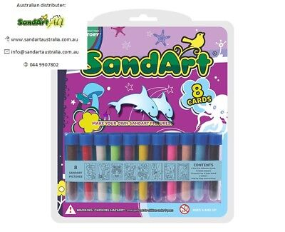 Sand Art Value Pack 11 Colour Sand & 8 Cards. Great Sand Art Picture for Kids