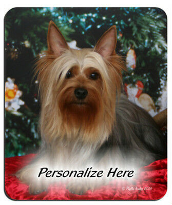 Silky  Terrier   xmas   Personalized  Mouse Pad