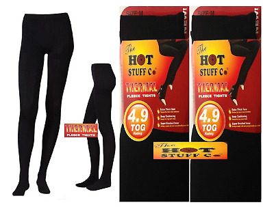 Ladies Women's Winter Warm Fleece Lined Thick Thermal Full Foot Tights (Sml-XXL)