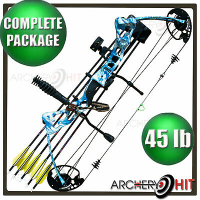 VULTURE BLACK COMPOUND Bow 35-55lb Ready to Shoot Package