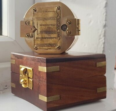 Antique St Brunton Brass Nautical Compass Boxed