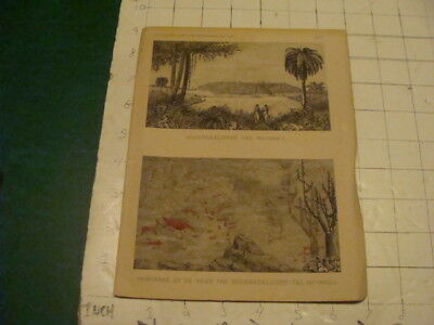 VINTAGE Original -- german(tables w graphics) 3pgs - Indianerklippen ved mocambo