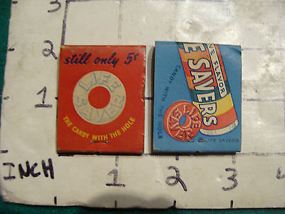 vintage Matches 1930's or 40's: 2 LIFE SAVERS both different