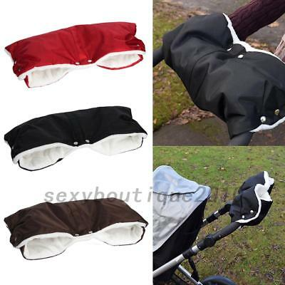 Kids Baby Pram Stroller Gloves Anti-freeze Muff Waterproof Hand Muffs Outdoor UK