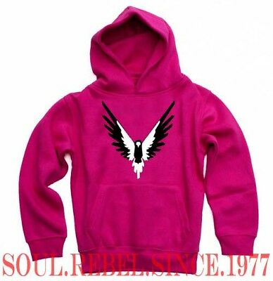 Paul Logan Pink Black White Hoodie Girls Youths Sizes
