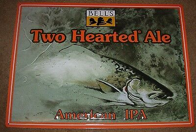 BELLS BREWING Two Hearted Ale METAL TACKER SIGN craft beer brewing brewery