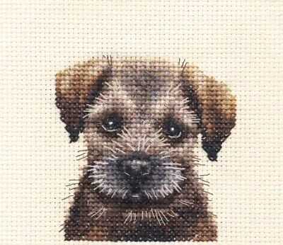 BORDER TERRIER PUPPY ~ Dog, Full counted cross stitch kit + All materials *FIDO