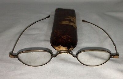 Antique 14K Gold Civil War Era Spectacles Eyeglasses With Case
