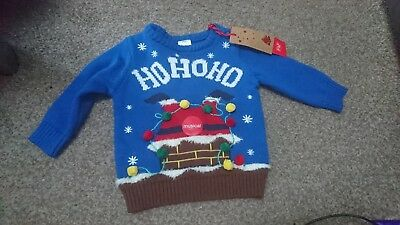 Gorgeous Boys Musical Christmas Jumper, 6-9 Months, F&F *Brand New*