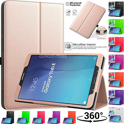 "Luxury Leather Smart Stand Case Cover For Samsung Galaxy Tab E 9.6"" SM-T560/T561"